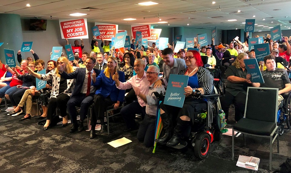 Hundreds rally to Make NDIS Work